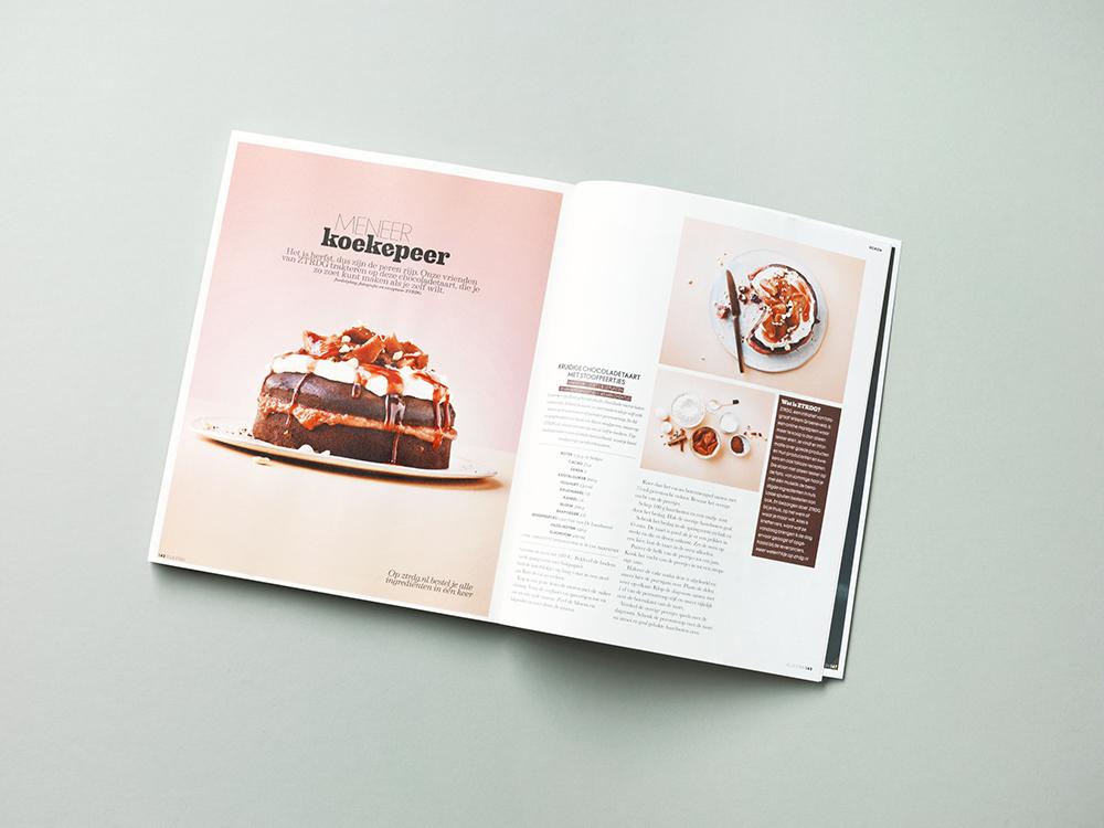 foodstyling ztrd elleeten chocoladetaart stoofperen magazine