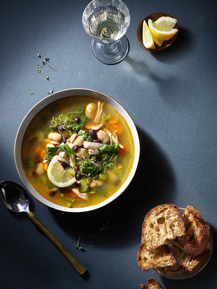 foodstyling receptontwikkeling elleeten kippensoep soep