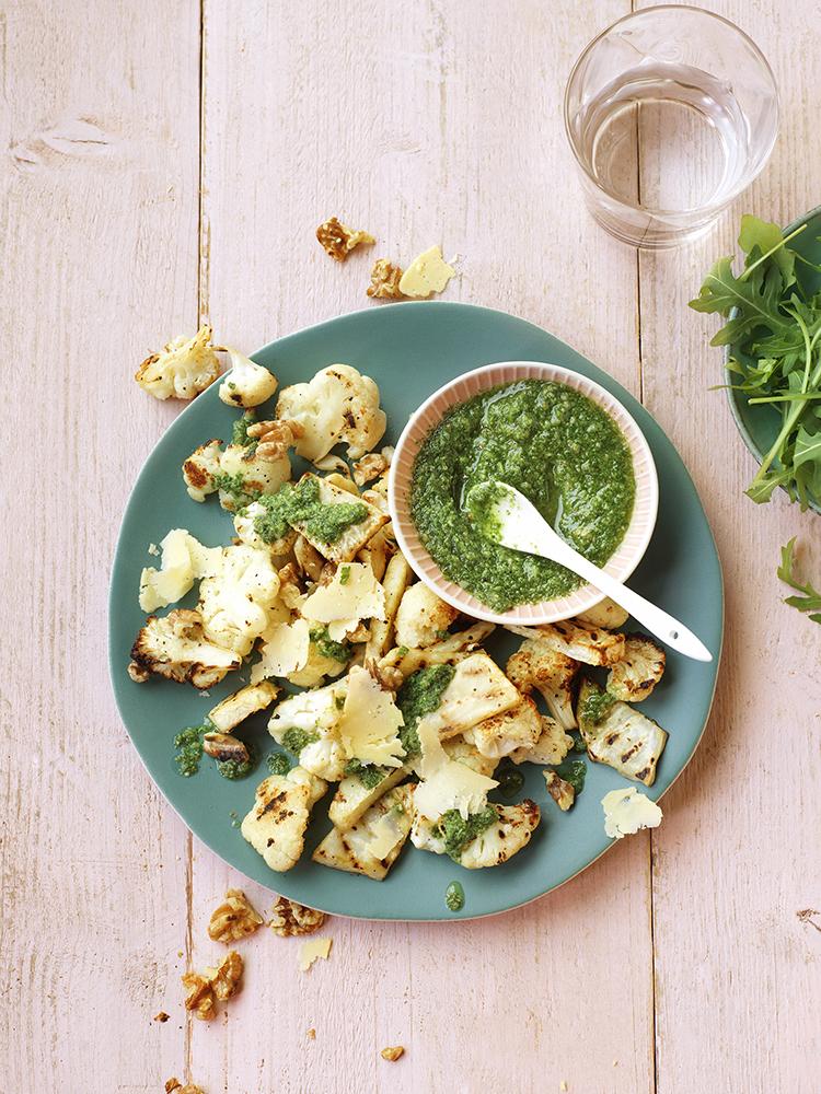 receptontwikkeling foodstyling gezondnu magazine bloemkool rucola pesto