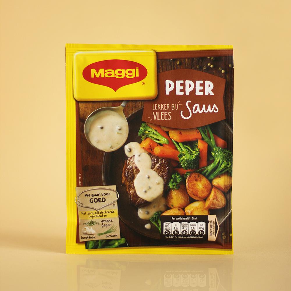 foodstyling receptontwikkeling verpakking maggi sauzen peper