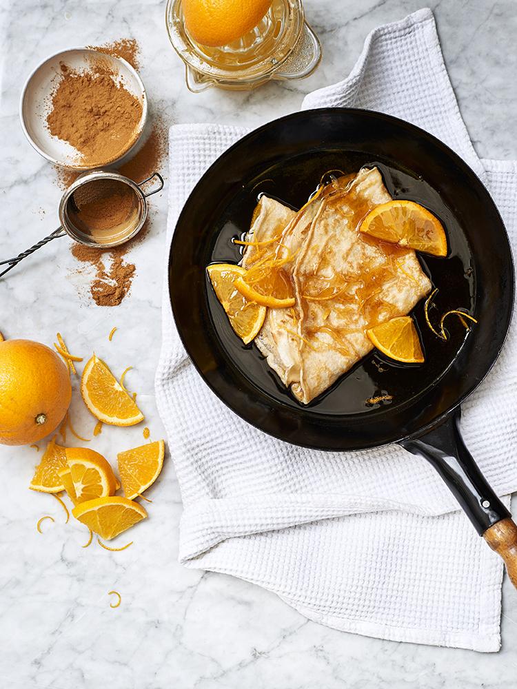 foodstyling receptontwikkeling pannenkoeken kookboek postcodeloterij sinaasappel